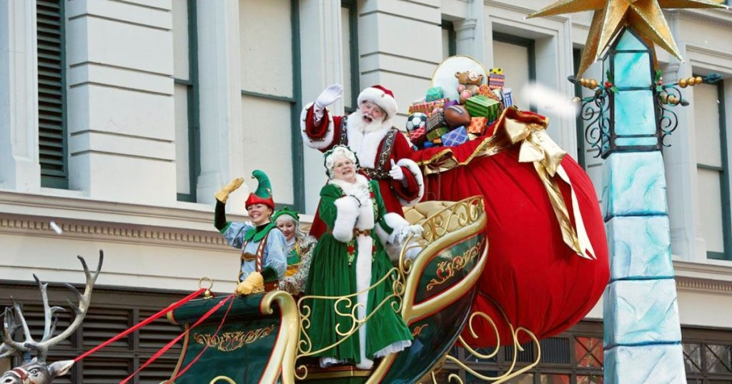 Santa Claus in Macy's Thanksgiving Day Parade