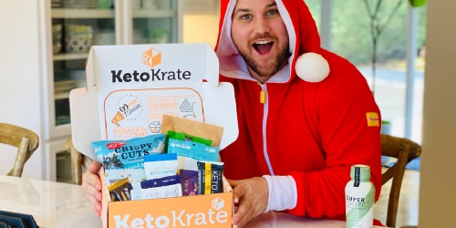 Buy 1, Get 1 FREE Keto Krate Boxes + Free Shipping (Includes 20 Full-Size Snacks!)