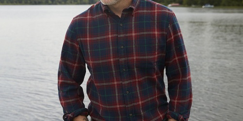 St. John's Bay Men's Long Sleeve Flannel Shirts Only $9.98 on JCPenney.com (Regularly $30)