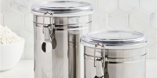 Martha Stewart Essentials Canisters 2-Pack Only $7.99 on Macy's.com (Regularly $22) | Black Friday Deal
