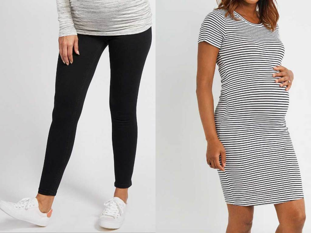maternity jeggings and dress