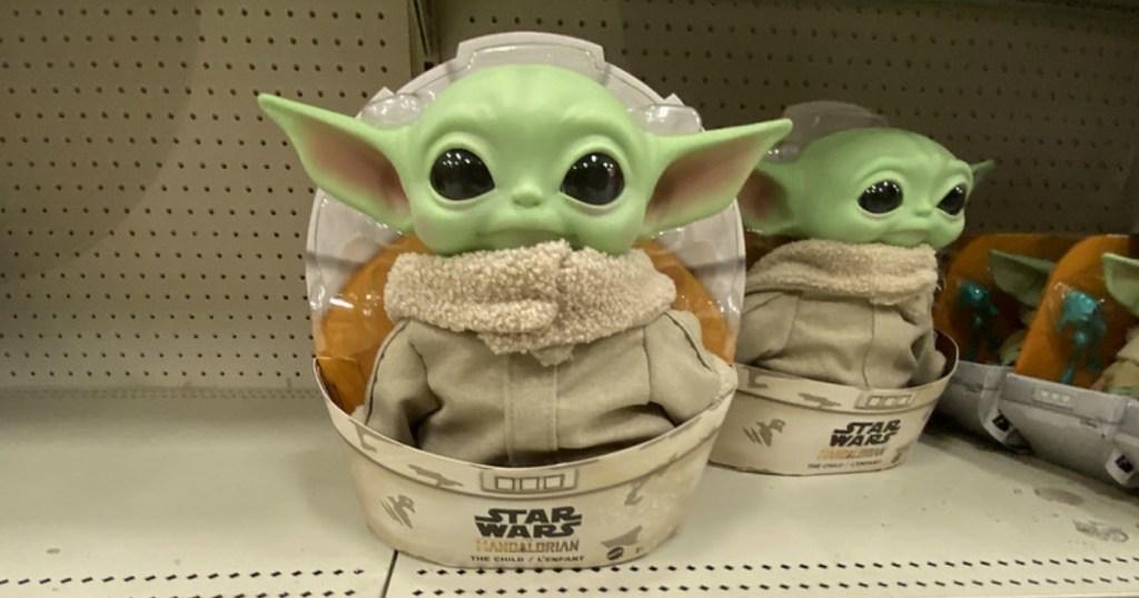 baby yoda toy on target store shelf