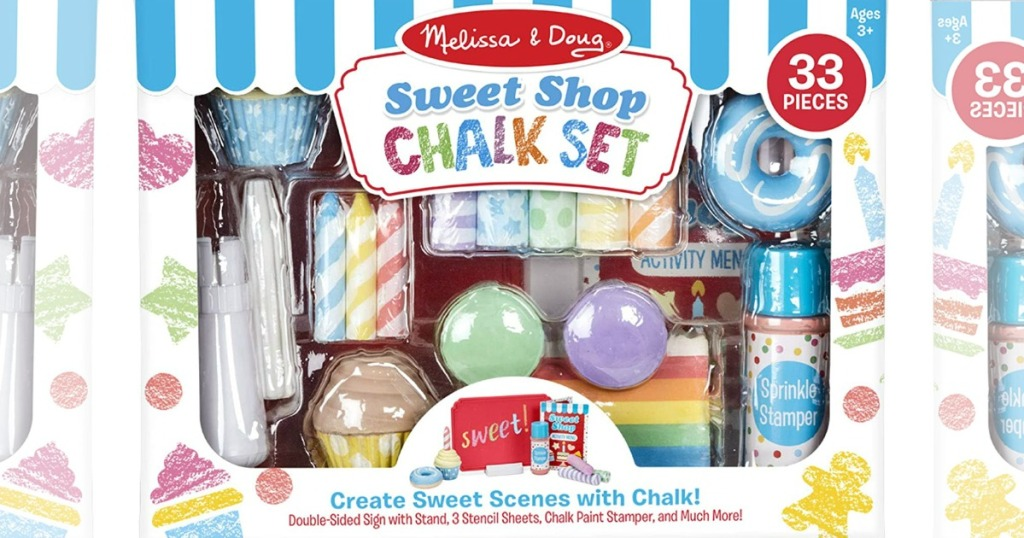 stock image of melissa and doug chalk set packaging
