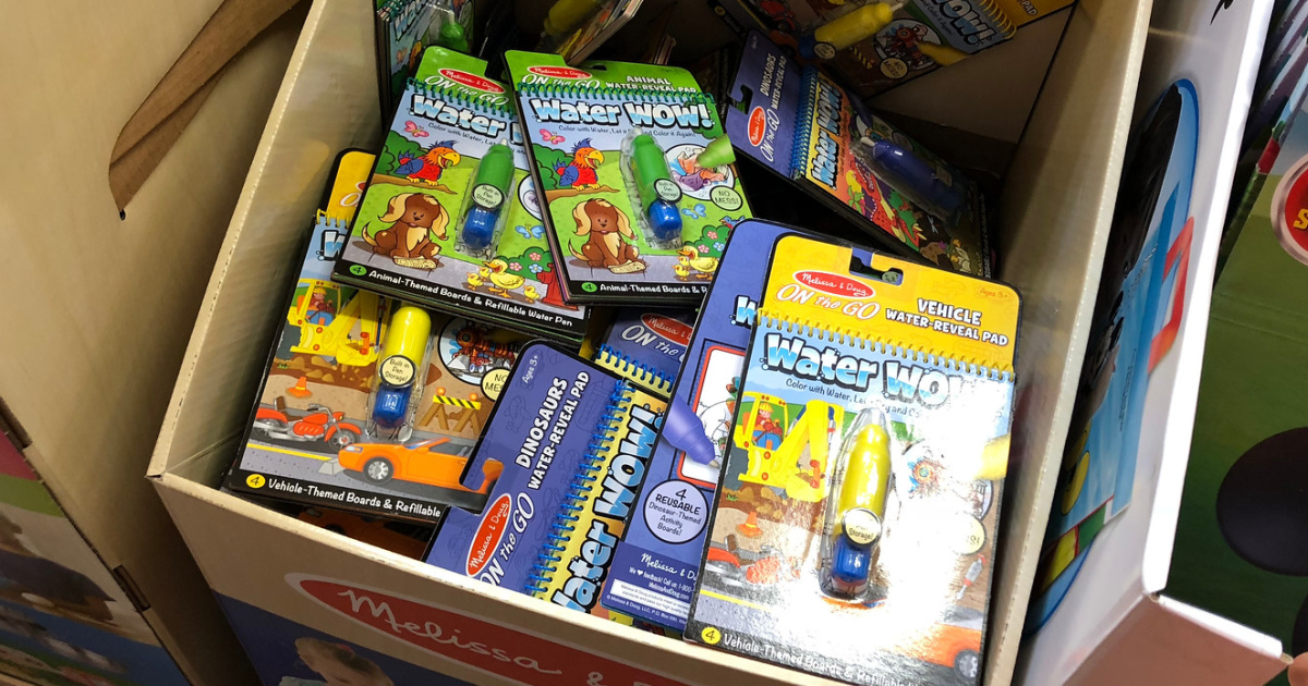 melissa & doug water wow pads many in box in store