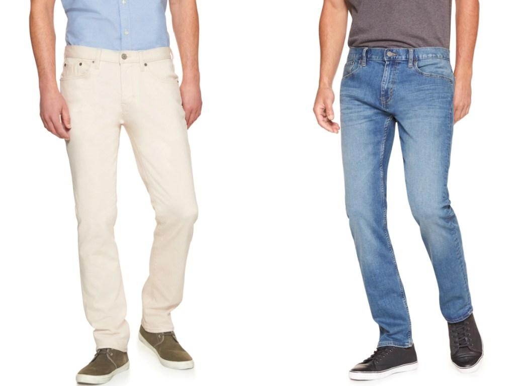 men wearing jeans from banana republic