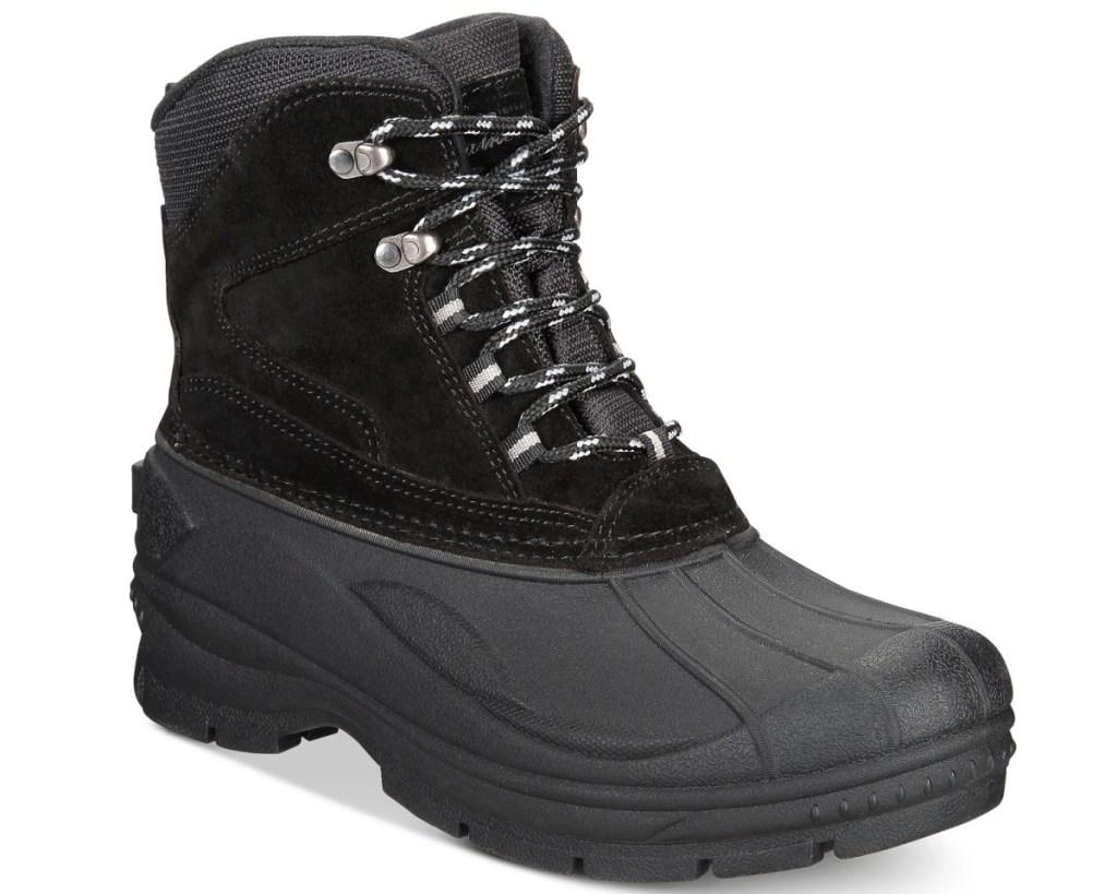 mens black duck boots