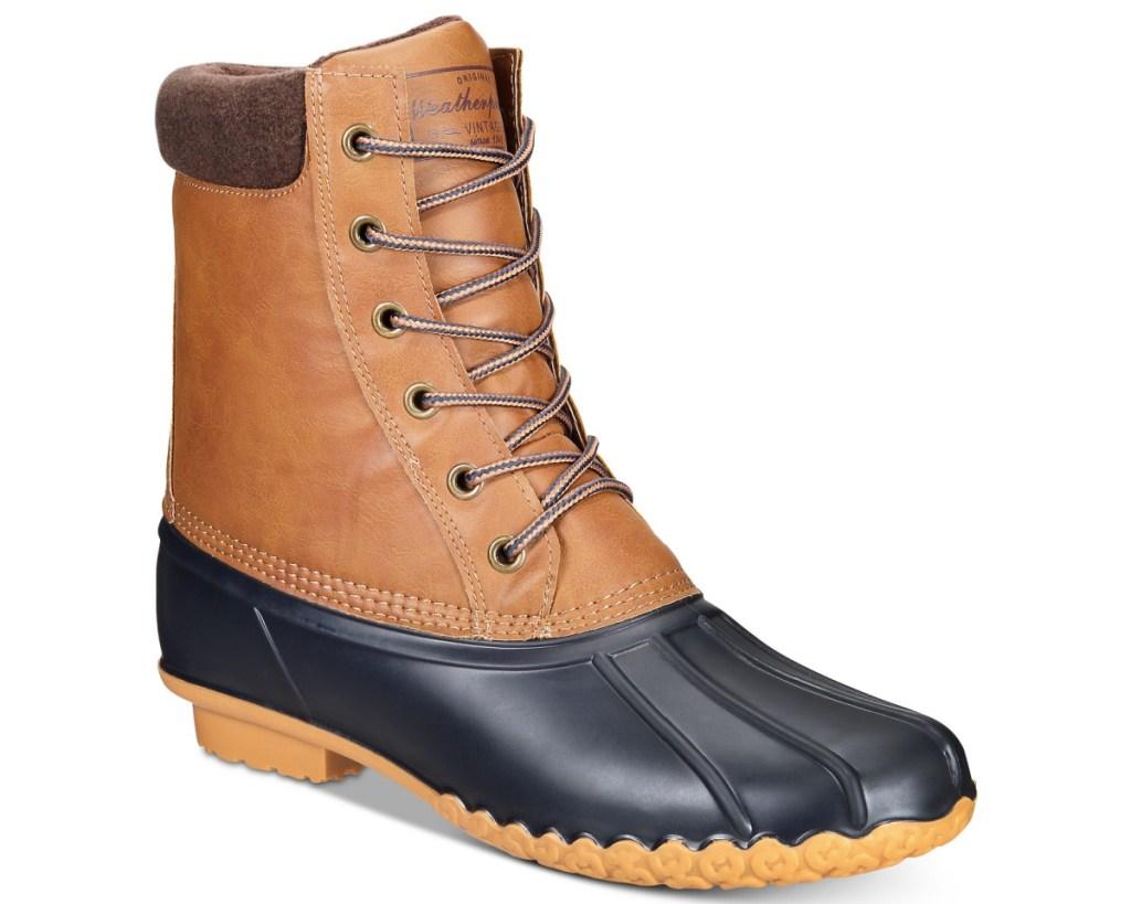 weatherproof vintage mens duck boots