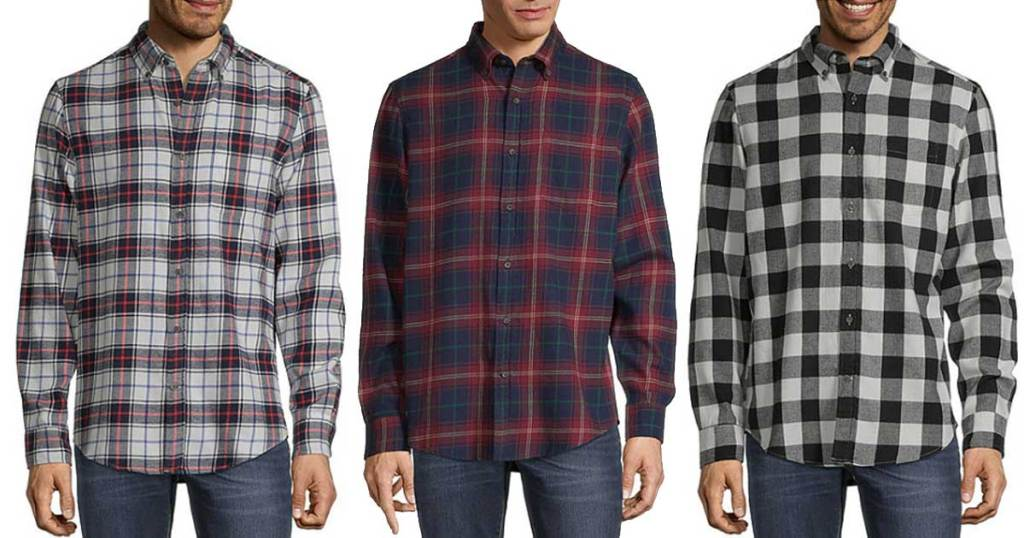 men's flannel shirts stock image