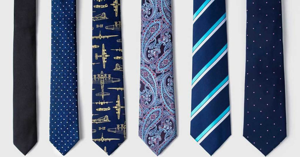 man's ties on display