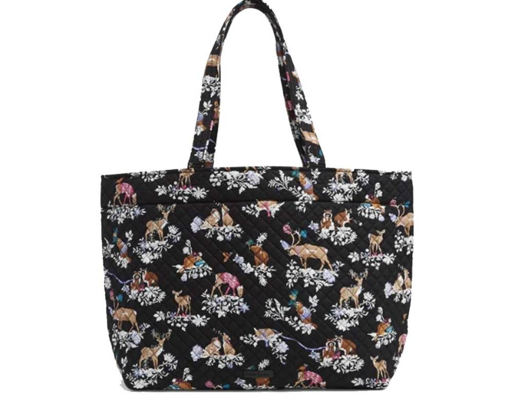 grand tote bag in holiday print