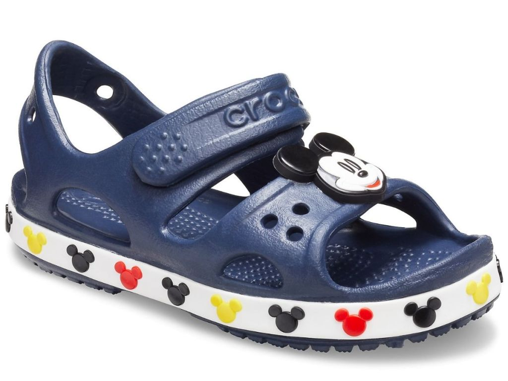 mickey mouse blue themed crocs