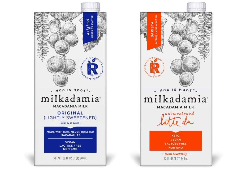 dua karton putih susu kacang milkadamia macadamia