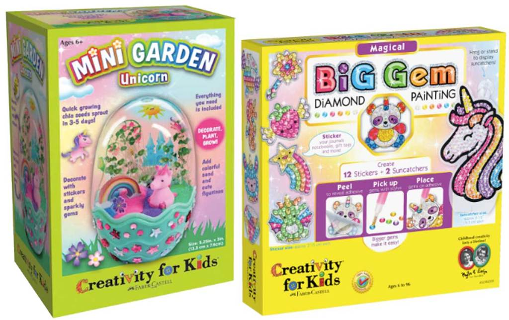 kids activity kits mini garden and big gem painting