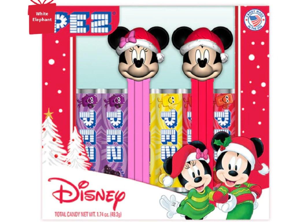 minnie and mickey holiday pez set