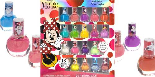 Disney Minnie Mouse 18-Pack Peel-Off Nail Polish Set Just $9.99 Shipped on Amazon | Cute Gift Idea