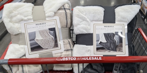 These LARGE Plush Throws Are Reversible And Only $16.99 at Costco