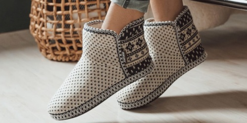 Muk Luks Women's Bootie Slippers Only $13.99 Shipped (Regularly $40) | Awesome Gift Idea
