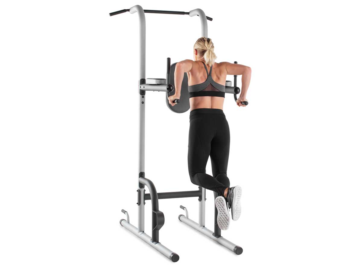 woman working out on equipment