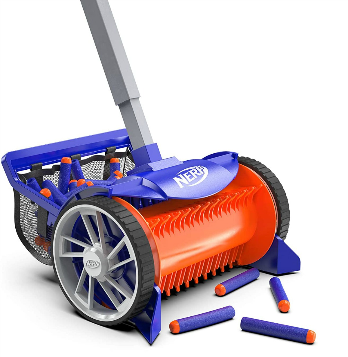 stock image of nerf sweeper collecting nerf darts