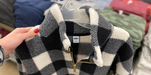 Old Navy Women's & Girls Sherpa Sweatshirts Only $10-$12   In-Store Only