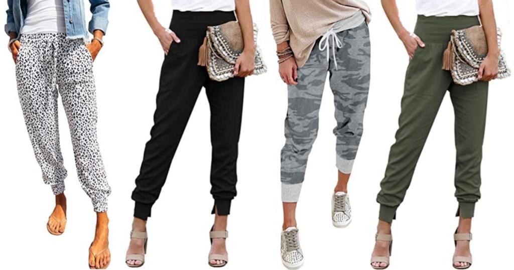 women wearing jogger pants