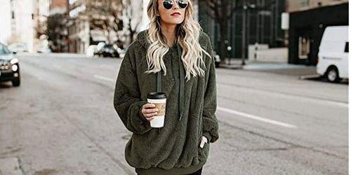 Cozy Sherpa Sweatshirt Just $17.54 Shipped on Amazon | Great Teen Gift Idea