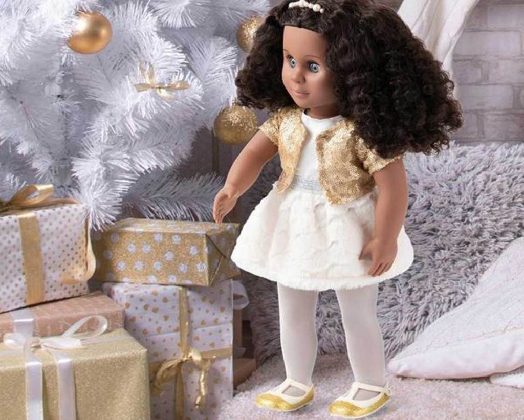 our generation doll haven in a christmas scene