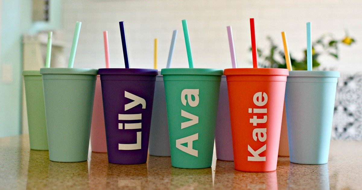 personalized tumblers using vinyl decals