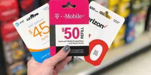 $50 Prepaid Phone Cards Only $45 at Target | Verizon, AT&T & More