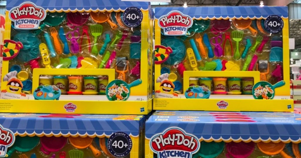 Play-Doh Kitchen Creations set on display in store