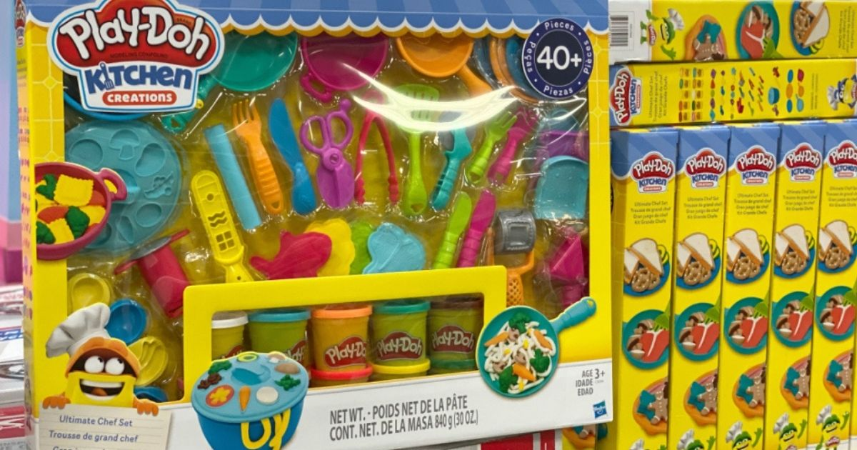 Play-Doh Kitchen Creations on display in store