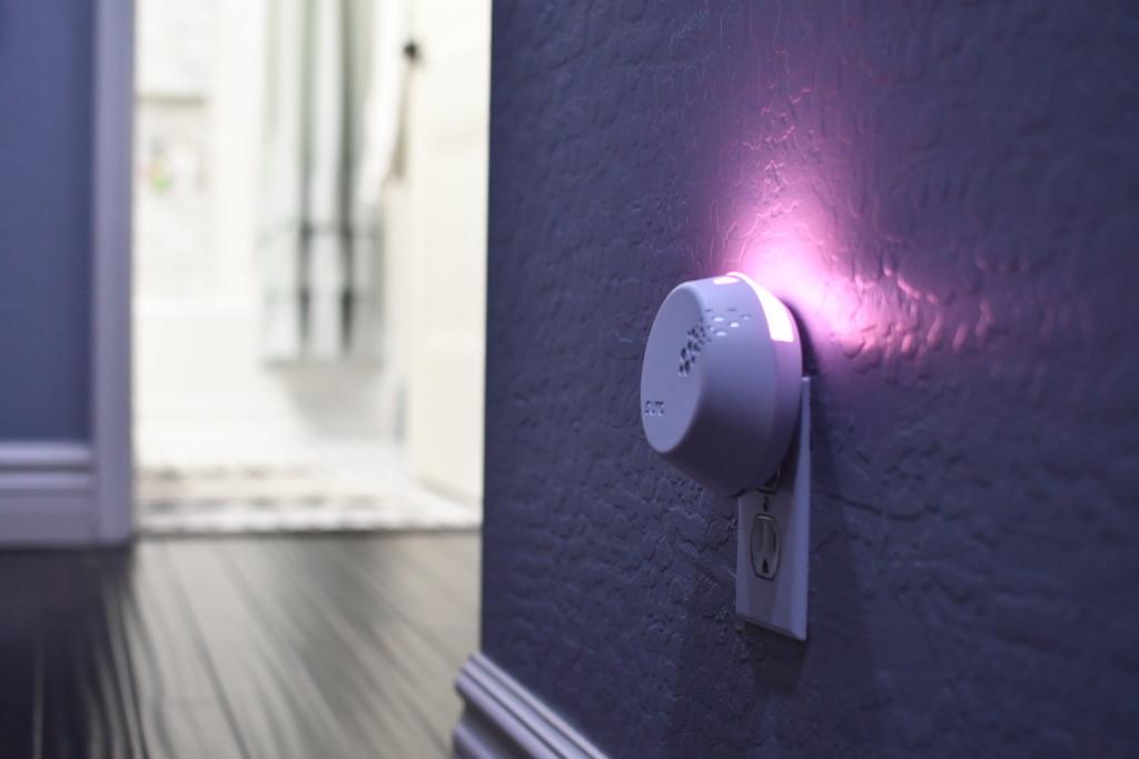 Pura scent diffuser smart nightlight in hall way