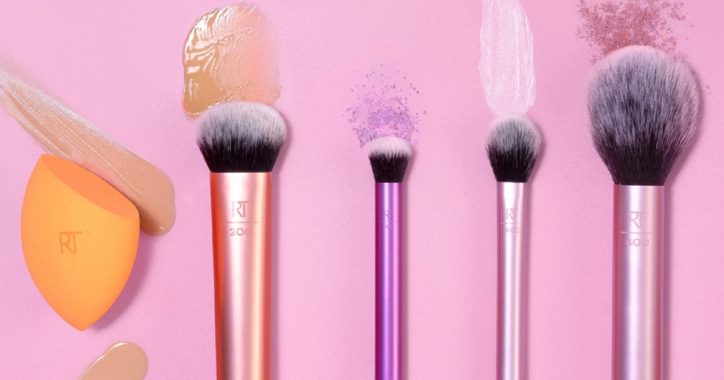 real techniques makeup brushes swiping makeup