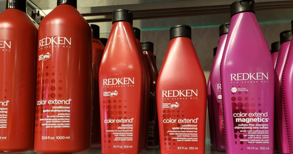 redken products on shelf