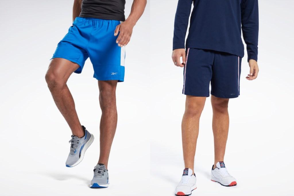 reebok shorts blue and navy