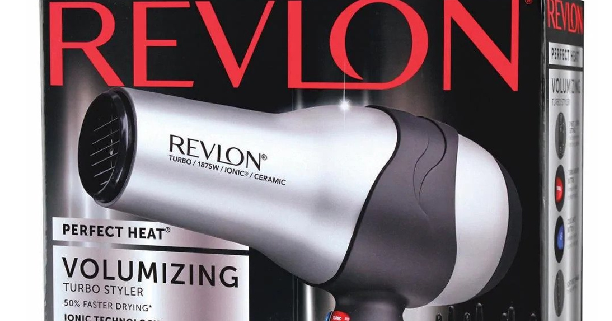 revlon hair dryer in box