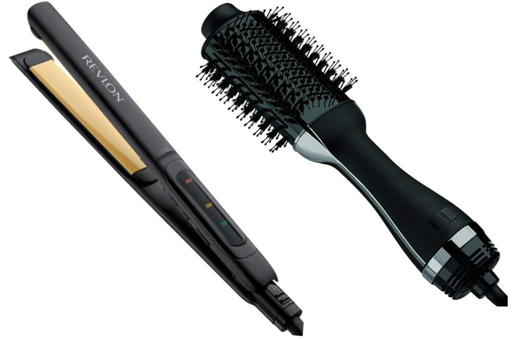 revlon straightening iron with hair wand