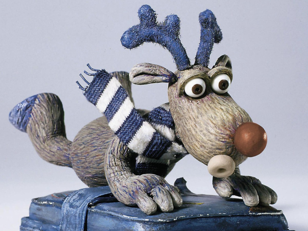 animated reindeer on suitcase