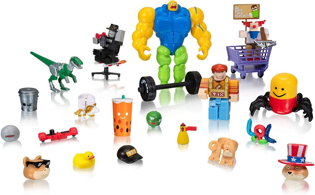 roblox set with many figures