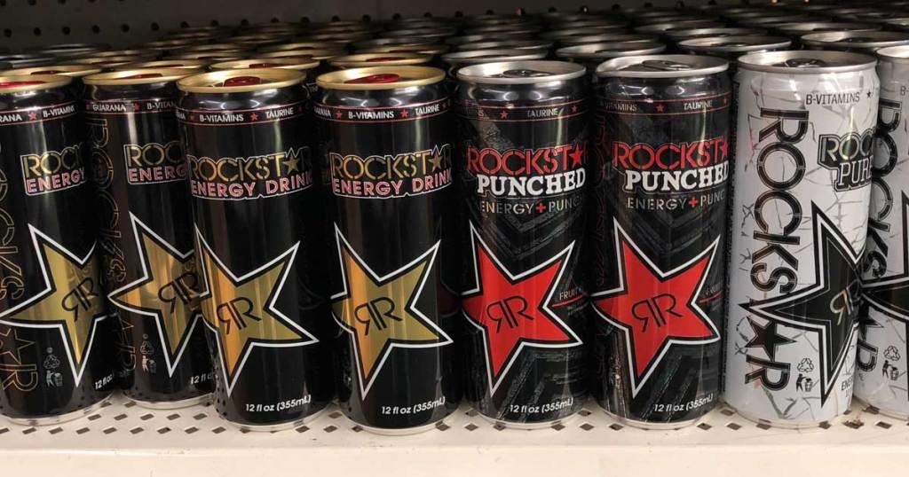 Rockstar Original Energy Drinks on store shelf