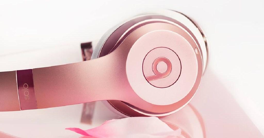Or rose bat les écouteurs solo3