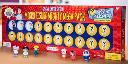 Ryan's World Micro Figure Mighty Mega Pack Only $20 on Target.com + Up to 50% Off More Toys