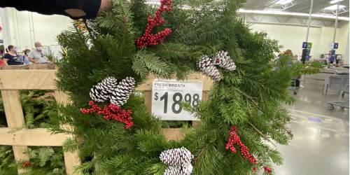 Fresh Evergreen 28″ Holiday Wreaths Just $18.98 at Sam's Club