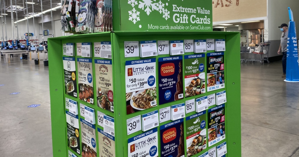 Gift card hub inside grocery store