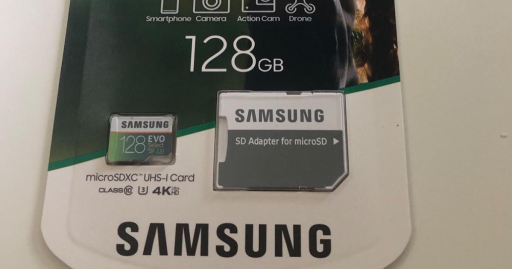 samsung micro sd card in packaging