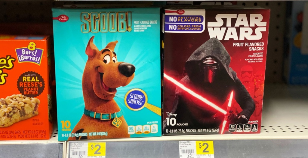 scoob and star wars snacks