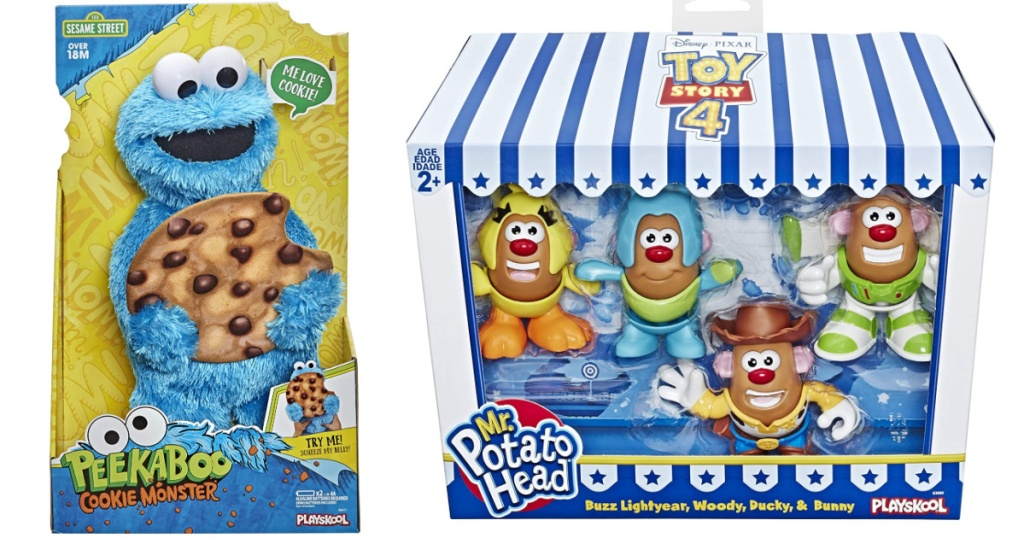 sesame street and toy story toys cookie monster and mr potato head