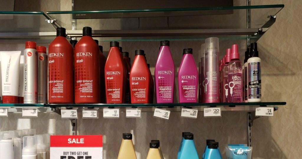 shampoo on shelf in store