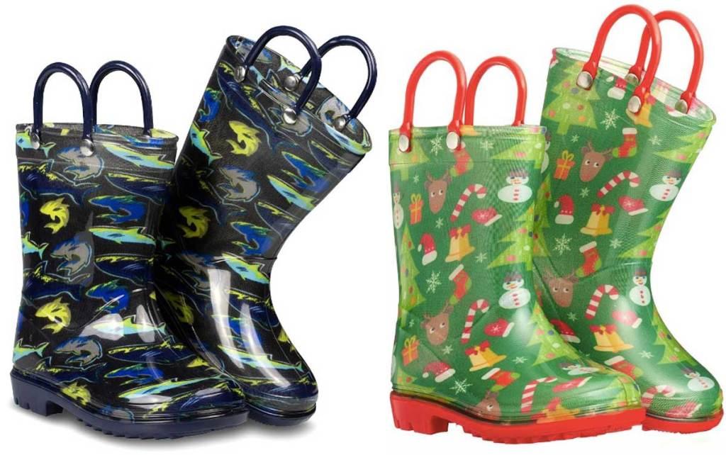 shark and christmas boots