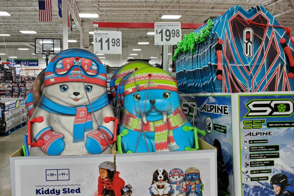 sleds at sams club in store